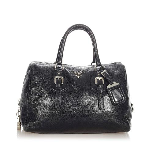 Prada Vitello Shine Leather Handbag