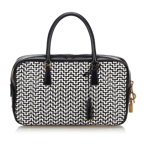 Prada Woven Leather Satchel
