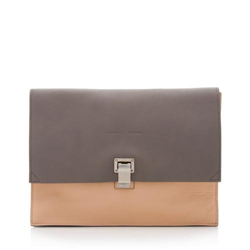 Proenza Schouler Leather Lunch Box Large Clutch