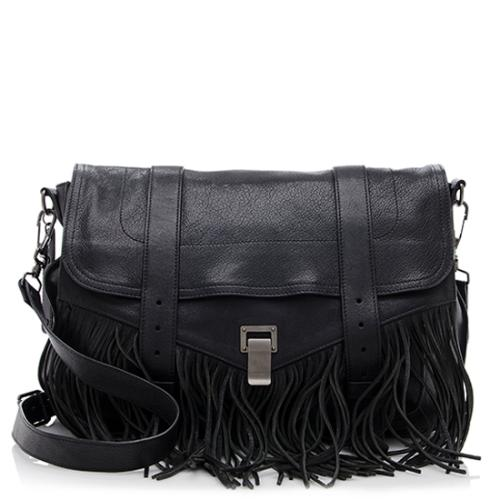 Proenza Schouler Leather Fringe PS1 Runner Shoulder Bag