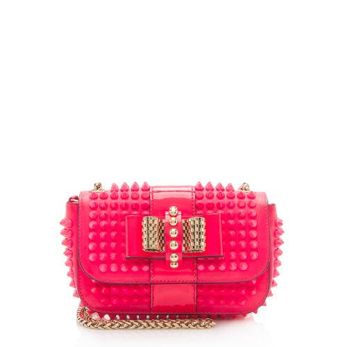 Christian Louboutin Calfskin Spiked Sweet Charity Small Crossbody Bag