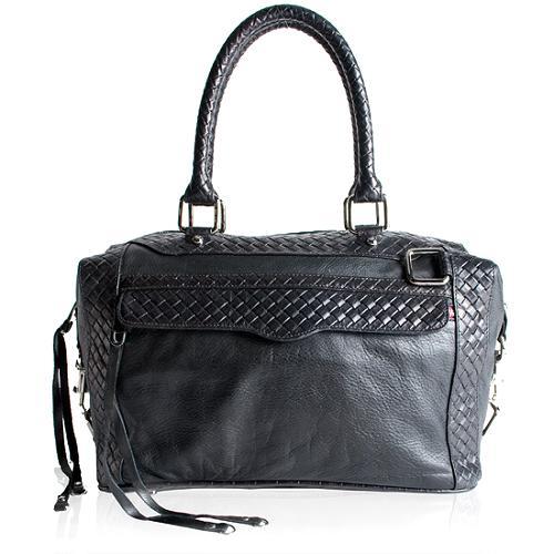 Rebecca Minkoff Basket Weave Mini Morning After Satchel Handbag