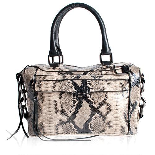 Rebecca Minkoff Python Embossed Mini Morning After Satchel Handbag