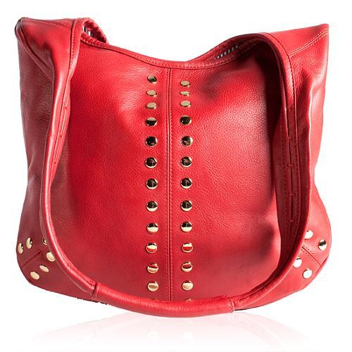 "Rebecca Minkoff Studded Leather ""Valentine"" Hobo Handbag"