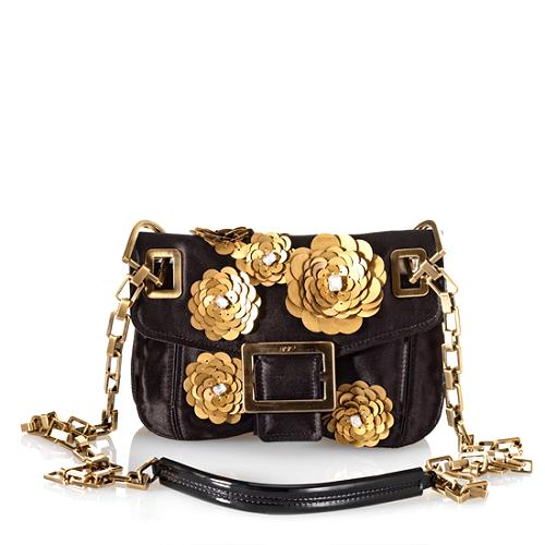 Roger Vivier Embelished Metro Shoulder Handbag