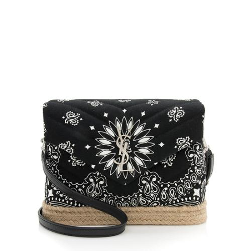 Saint Laurent Bandana Print LouLou Toy Shoulder Bag