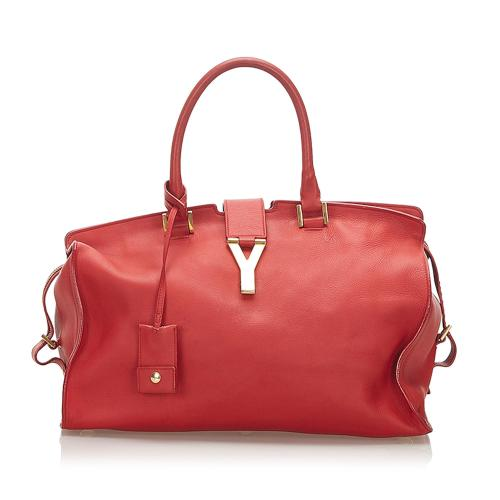 Saint Laurent Cabas Chyc Leather Handbag