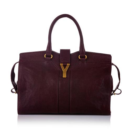 Saint Laurent Cabas Chyc Ligne Leather Handbag