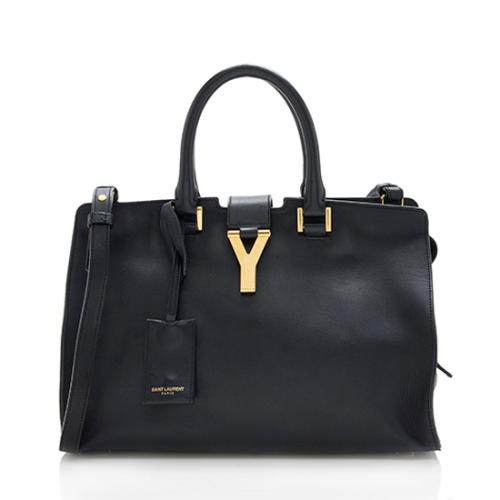 Saint Laurent Calfskin Classic Small Cabas Y Tote