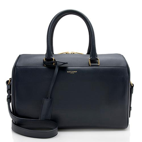 Saint Laurent Calfskin Duffle 6 Satchel