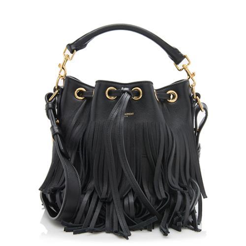 Saint Laurent Calfskin Emmanuelle Small Bucket Bag