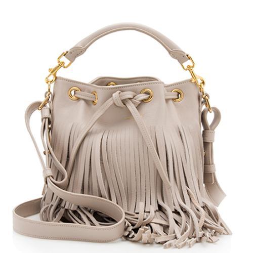 Saint Laurent Calfskin Fringe Emmanuelle Small Bucket Bag - FINAL SALE
