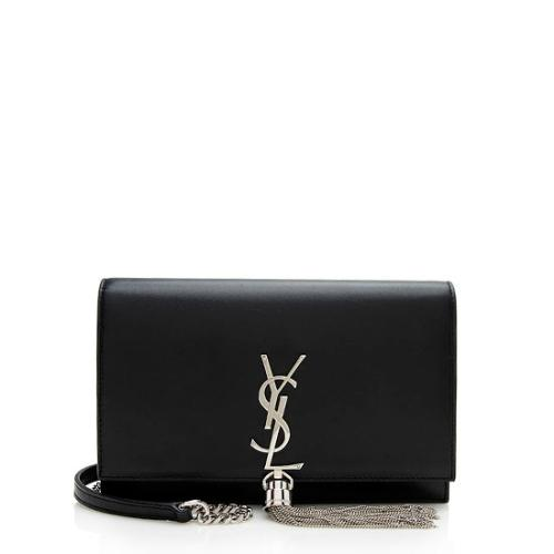 Saint Laurent Calfskin Kate Tassel Wallet On Chain Bag