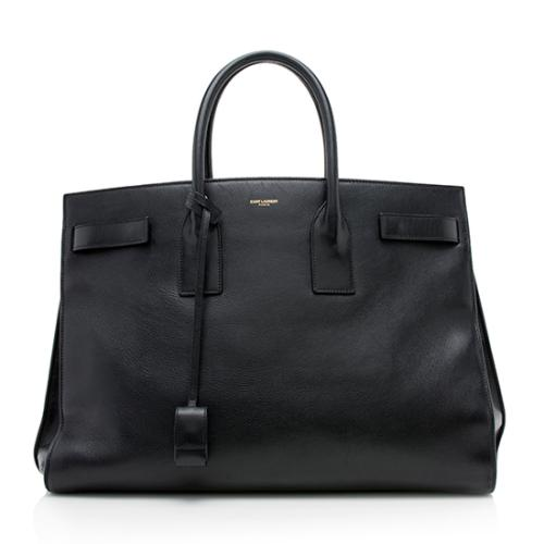 Saint Laurent Calfskin Large Classic Sac De Jour Tote - FINAL SALE