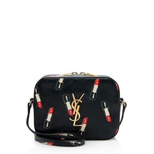 Saint Laurent Calfskin Lipstick Monogram Camera Bag