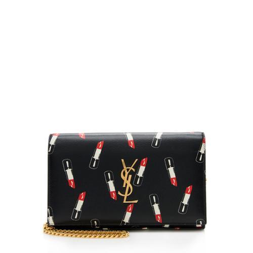 90328ab258 Saint Laurent Calfskin Lipstick Monogram Wallet On Chain