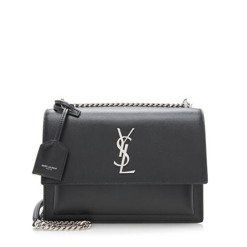 Saint Laurent Grained Calfskin Sunset Medium Shoulder Bag