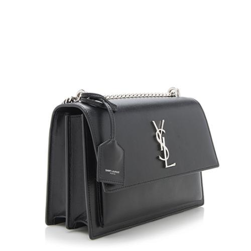 Saint Laurent Calfskin Medium Sunset Shoulder Bag