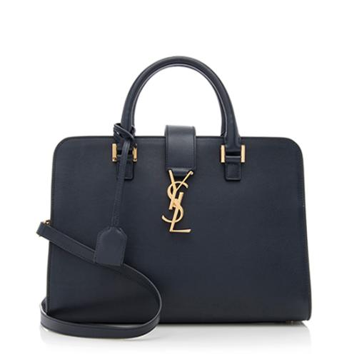 Saint Laurent Calfskin Monogram Cabas Small Shoulder Bag
