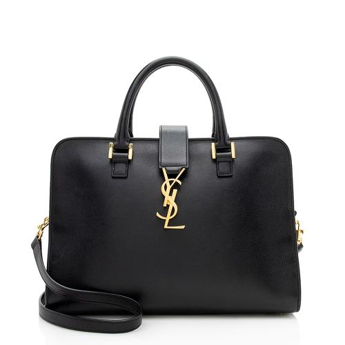 Saint Laurent Calfskin Monogram Cabas Small Tote