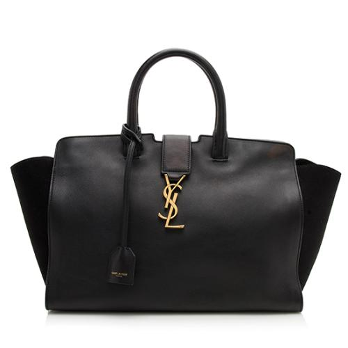 Saint Laurent Calfskin Small Cabas Downtown Satchel