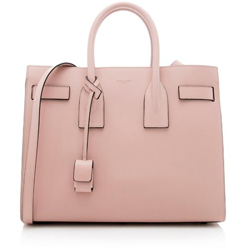 Saint Laurent Calfskin Small Sac De Jour Tote