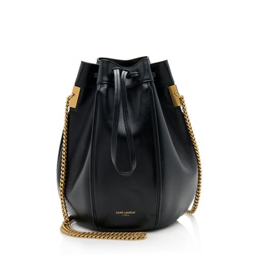 Saint Laurent Calfskin Talitha Small Bucket Shoulder Bag