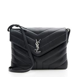Saint Laurent Matelasse Calfskin LouLou Toy Wallet on Chain Bag