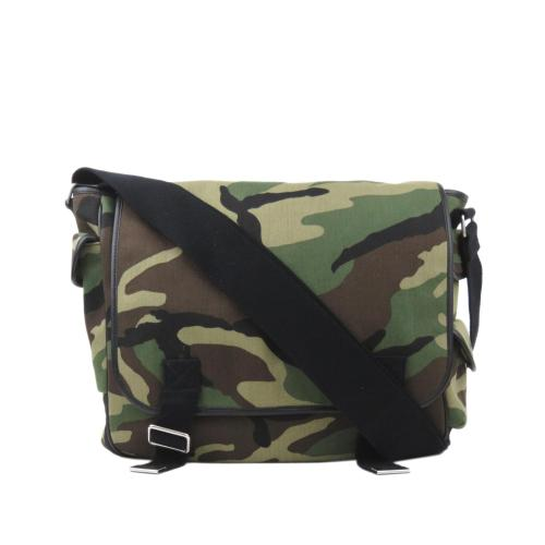 Saint Laurent Camouflage Messenger Bag