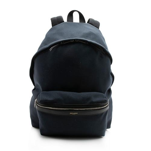 Saint Laurent Canvas City Backpack - FINAL SALE - FINAL SALE