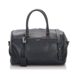 Saint Laurent Leather Classic Baby Duffle Bag
