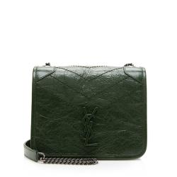 Saint Laurent Crinkled Calfskin Niki Chain Wallet