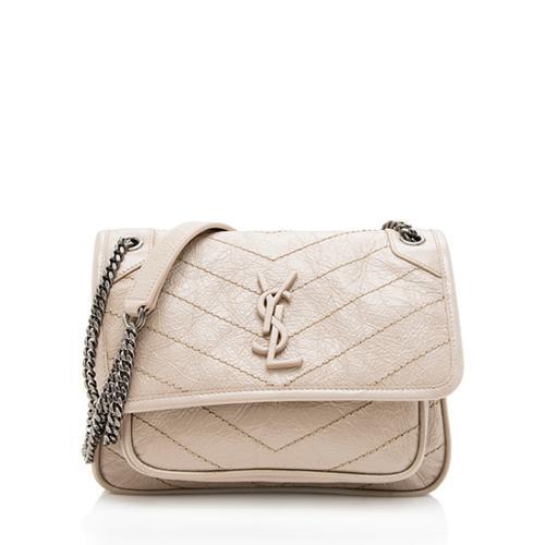 Saint Laurent Crinkled Calfskin Niki Baby Shoulder Bag