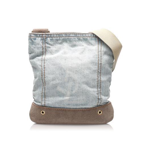 Saint Laurent Denim Crossbody Bag