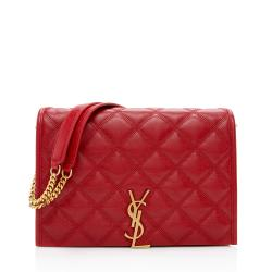 Saint Laurent Diamond Quilted Leather Becky Small Shoulder Bag