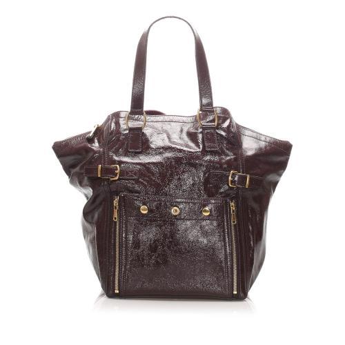 Saint Laurent Downtown Patent Leather Tote Bag