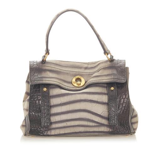 Saint Laurent Embossed Leather Muse Two Handbag