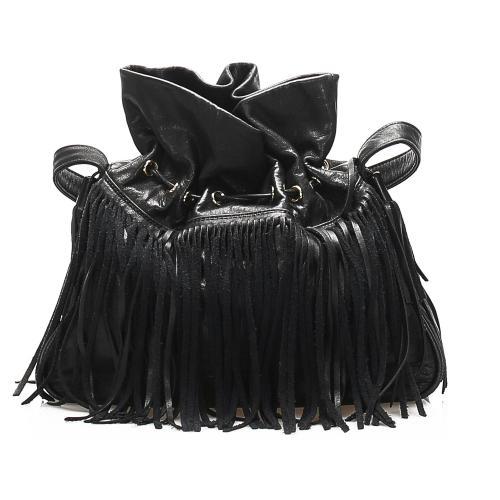 Saint Laurent Fringe Leather Shoulder Bag