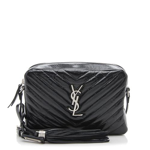 Saint Laurent Matelasse Glazed Calfskin Lou Camera Bag