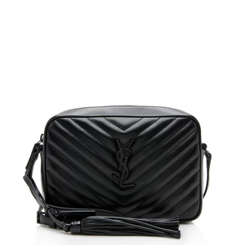 Saint Laurent Glazed Calfskin Matelasse Lou Camera Bag