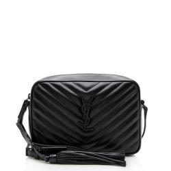 Saint Laurent Matelasse Calfskin Lou Camera Bag