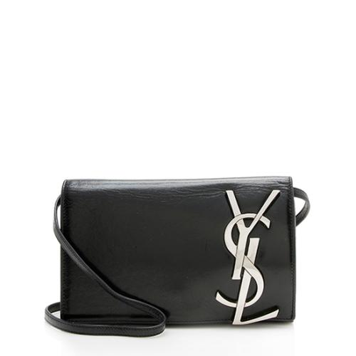 Saint Laurent Glazed Leather Smoking Clutch - FINAL SALE