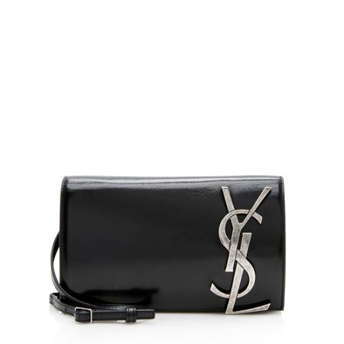 Saint Laurent Glazed Leather Smoking Clutch