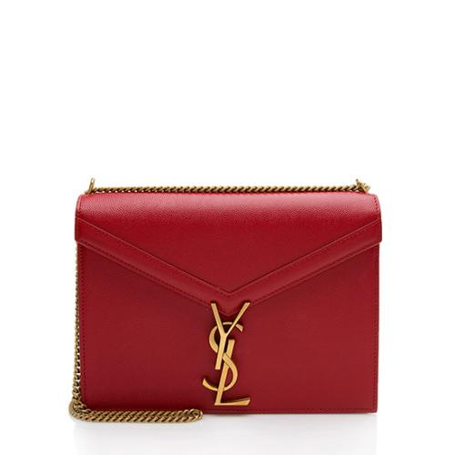 Saint Laurent Grain De Poudre Monogram Cassandra Shoulder Bag