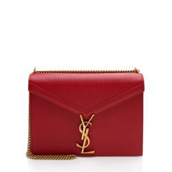 Saint Laurent Grain De Poudre Monogram Cassandra Shoulder Bag