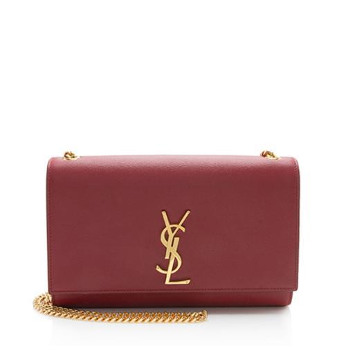 Saint Laurent Grain de Poudre Classic Kate Chain Medium Shoulder Bag