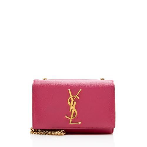Saint Laurent Grain de Poudre Classic Kate Chain Small Shoulder Bag