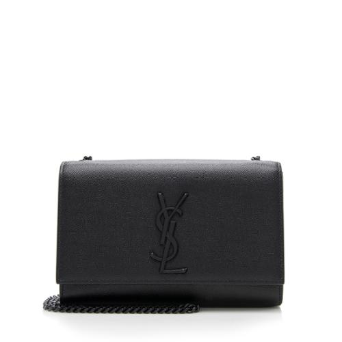 Saint Laurent Grain de Poudre Classic Kate Chain Small Shoulder Bag
