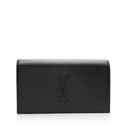 Saint Laurent Grain de Poudre Classic Kate Clutch