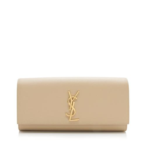 Saint Laurent Grain de Poudre Kate Clutch